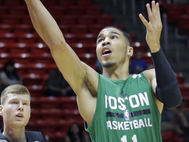 The Boston Celtics traded down in the NBA draft because they felt the best player would be available at No. 3. The first impressions of Jayson Tatum in the summer league show they may have been right.