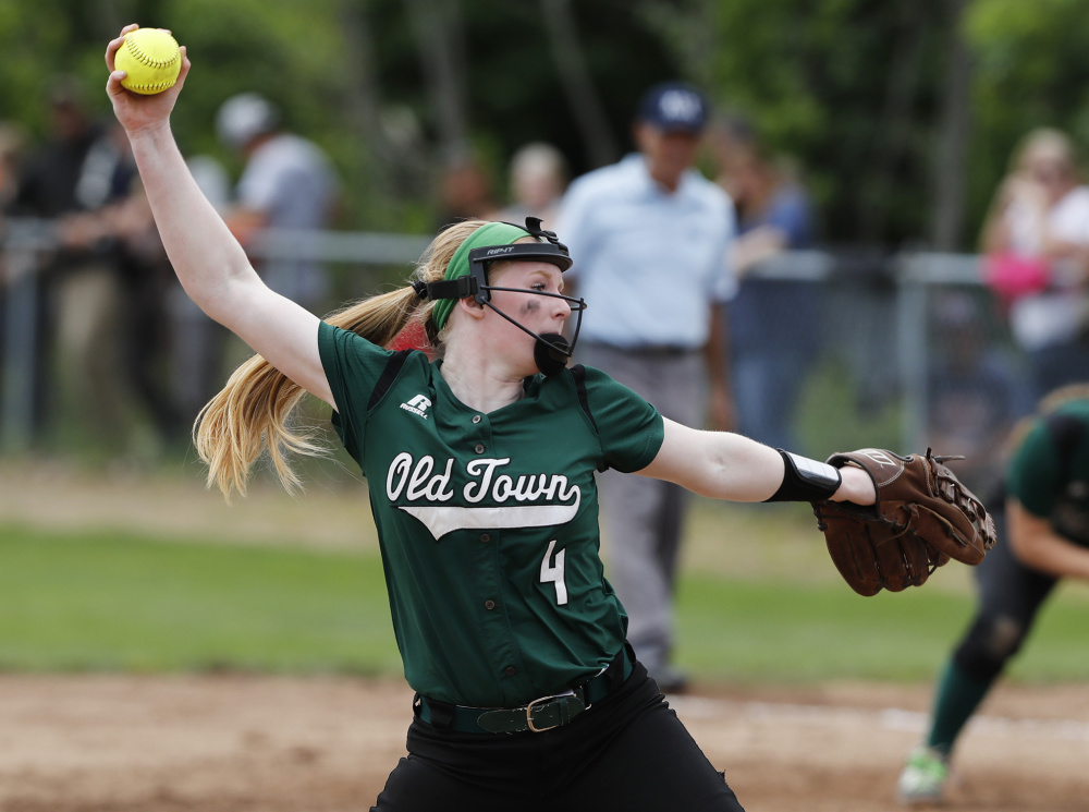 McKenna Smith capped a stellar junior season by pitching a three-hit shutout with 19 strikeouts in the Class B state championship game, leading Old Town to a 2-0 win over Fryeburg Academy.