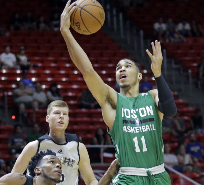 Jayson Tatum, the No. 3 overall pick in this year's draft, averaged 18.2 points and 8.8 rebounds in six summer league games.