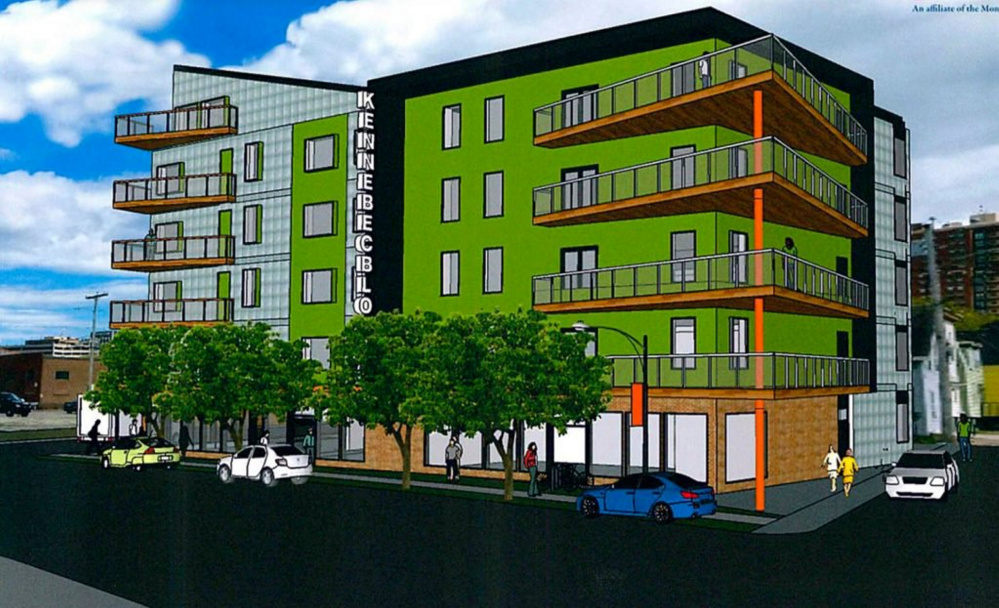 For 178 Kennebec St., one of the six parcels open to development, the city staff is recommending a proposal for housing above space for retail shops or artists.