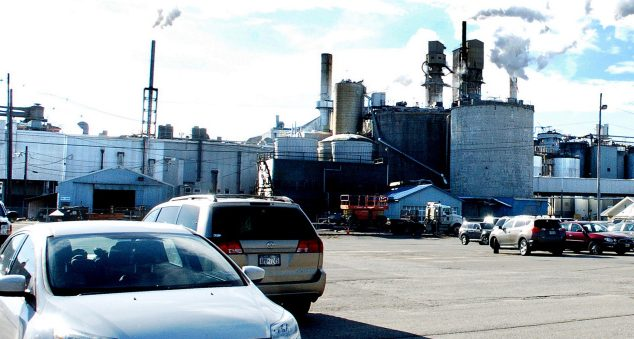 Verso Paper's Androscoggin mill in Jay, seen Nov. 1, 2016, plans to shut down a key papermaking machine permanently, resulting in the loss of 120 jobs.