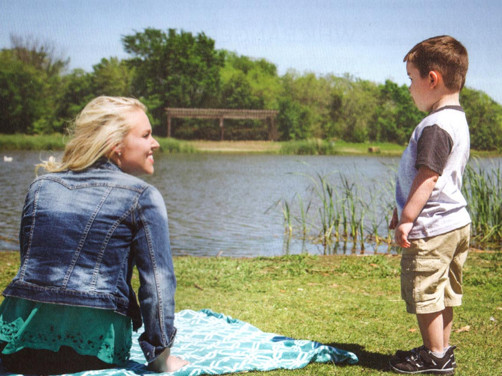 Author Sarah Penrod, pictured with her son, joined the cast of