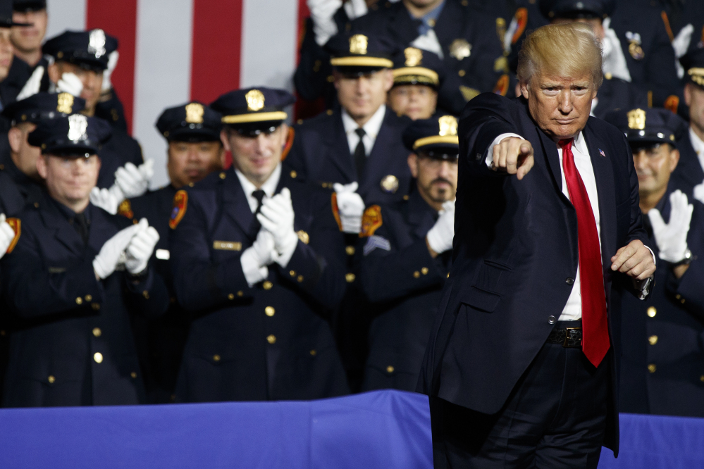 President Trump, on Long Island, pledges to destroy MS-13