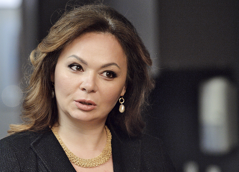 Natalia Veselnitskaya speaks to a journalist in Moscow on  Nov. 8, 2016. Speaking of her meeting with Donald Trump Jr., she says.
