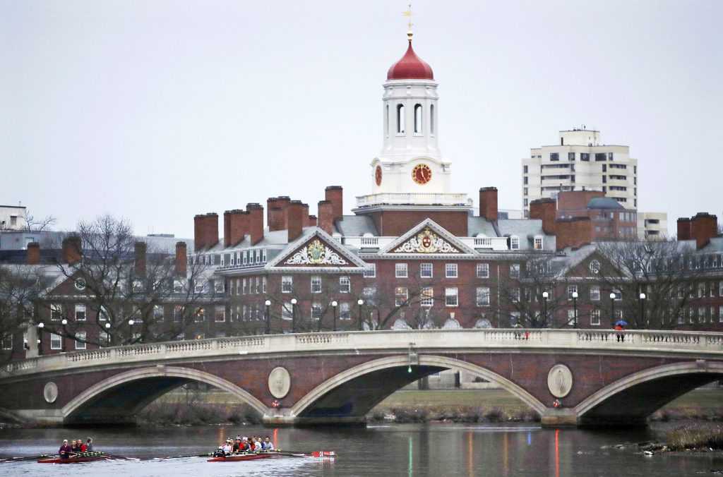 The Harvard College campus in Cambridge, Mass. Edward Blum, who lives part time in South Thomaston, argues that Harvard unfairly turns away qualified Asian-American students.