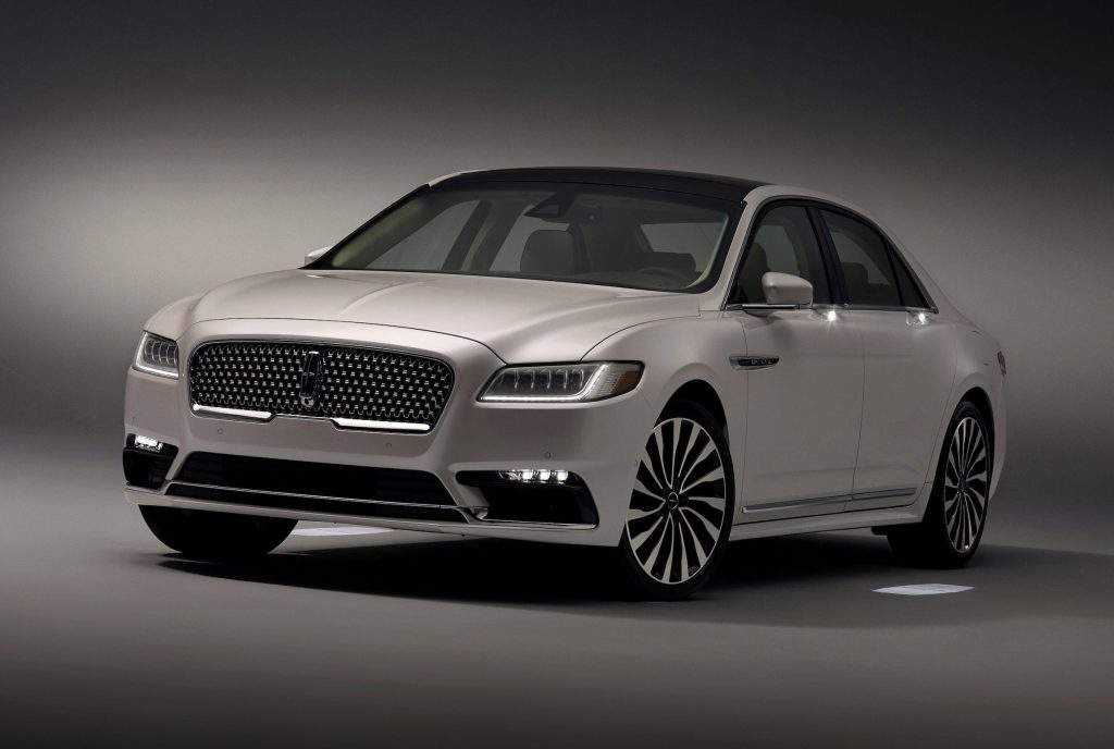 The 2017 Lincoln Continental uses a modified version of Ford's front-drive-based CD4 platform, which underpins the MKX and MKZ.