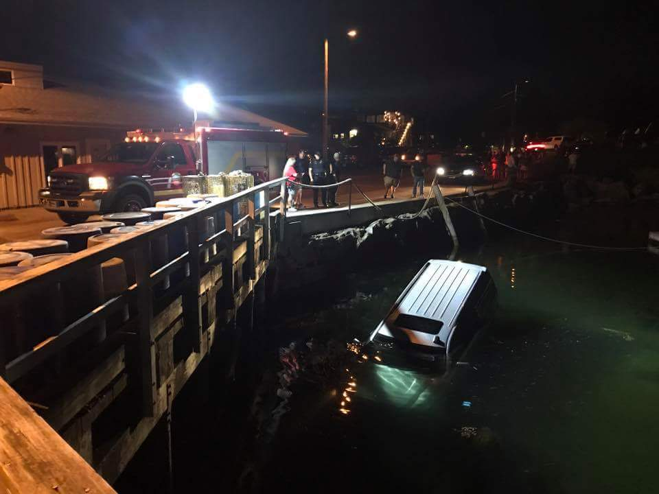 The Cape Porpoise Fishing Pier, where this SUV rolled into the water around 9:30 p.m. Monday.