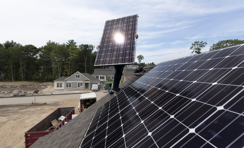 Solar backers were unhappy with L.D. 1504's defeat.