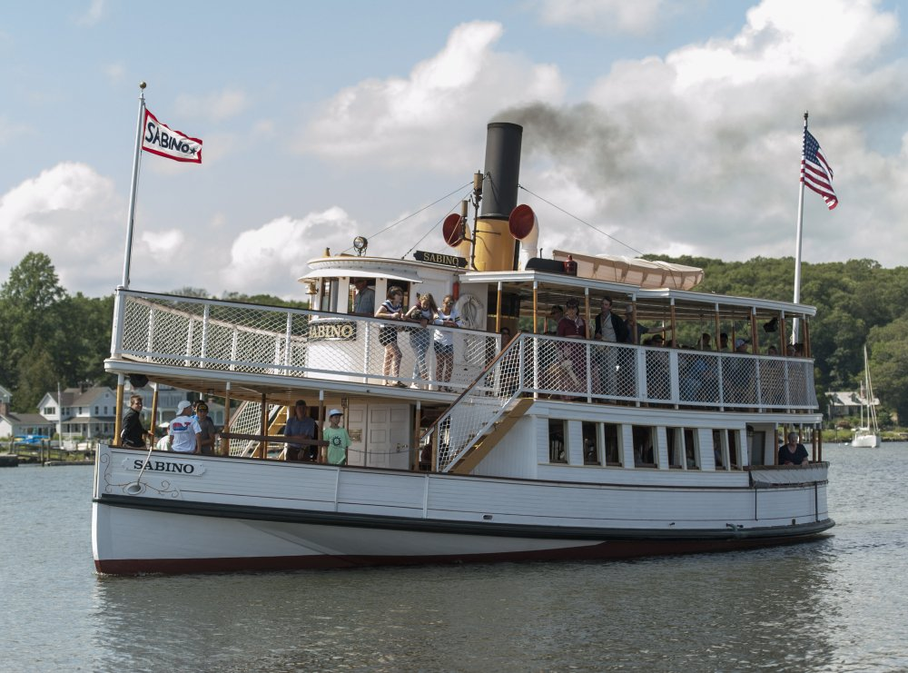 The steamboat Sabino, built in East Boothbay in 1908, was restored at Mystic Seaport in Connecticut, where it will take visitors on cruises