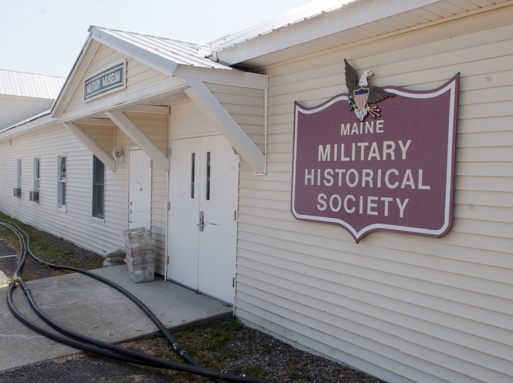 The outside of the Maine Military Historical Society's museum at Camp Keyes in Augusta.