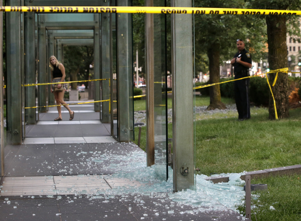 1 in custody after vandalizing Boston's Holocaust memorial, police say