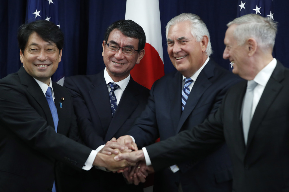 United States and Japan warn North Korea of consequences if it attacks first