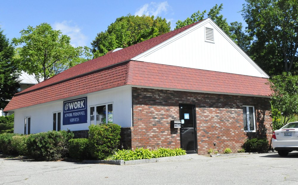 The AtWork business in Skowhegan was the site of a police response Wednesday morning after a report of a suspicious box left there. Police said the box contained roadwork equipment left by a former employee.
