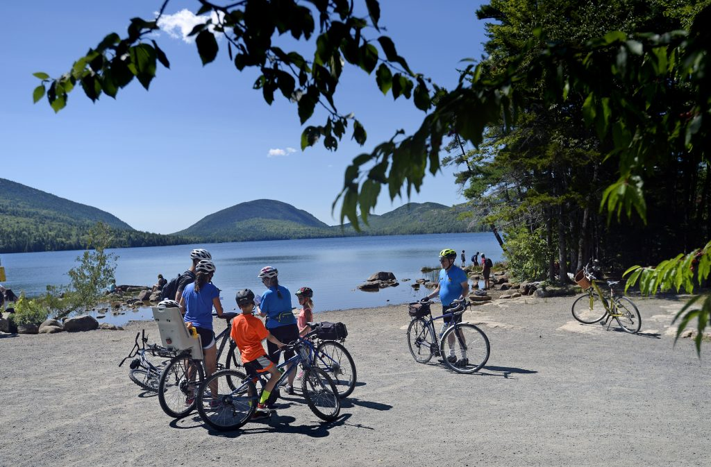 Acadia bike patrol volunteers help tourists find their way for Portland maine bike trails