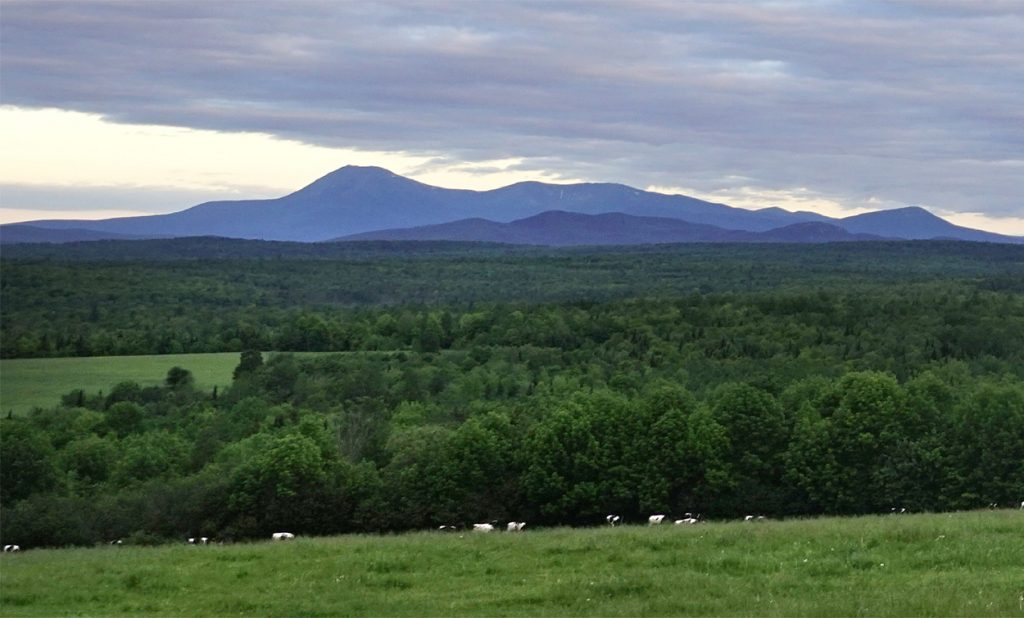 11 in Patten. Some of the land below the mountain is part of the Katahdin Woods & Waters National Monument