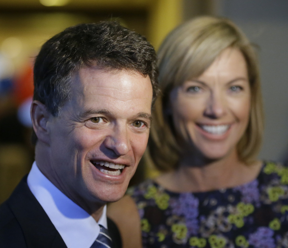 David Trott, with his wife Kappy, is one of a growing number of House Republicans who will not seek re-election despite the party controlling government.