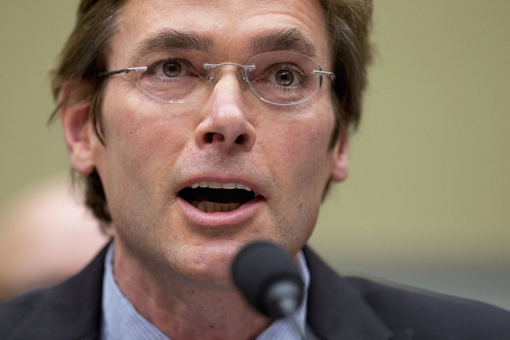 In this March 15, 2016 file photo, Virginia Tech environmental engineering professor Marc Edwards testifies in Washington on the ongoing lead water crisis in Flint, Mich. Edwards said Friday Sept. 15, 2017 that after several rounds of testing, lead levels are back to normal, for a city with old lead pipes. He's recommending the continued use of filters and cautions that residents lack confidence in a government they blame for the water problems.