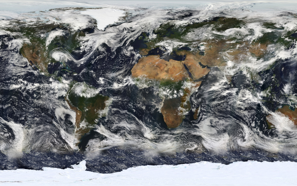 NASA launched the Earth Observing System's flagship satellite Terra on Dec. 18, 1999. Most Americans believe the Earth is warming and human activity is causing it.