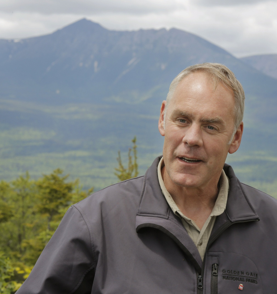 Interior Secretary Ryan Zinke tours Maine's Katahdin Woods and Waters in June as part of his review of 27 national monuments.