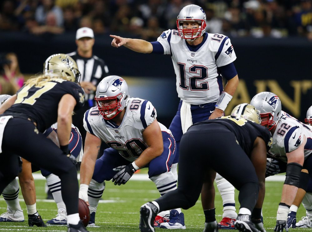 Tom Brady struggled in the season opener against the Chiefs, but he looked as good as ever Sunday against New Orleans, passing for 447 yards and three touchdowns.