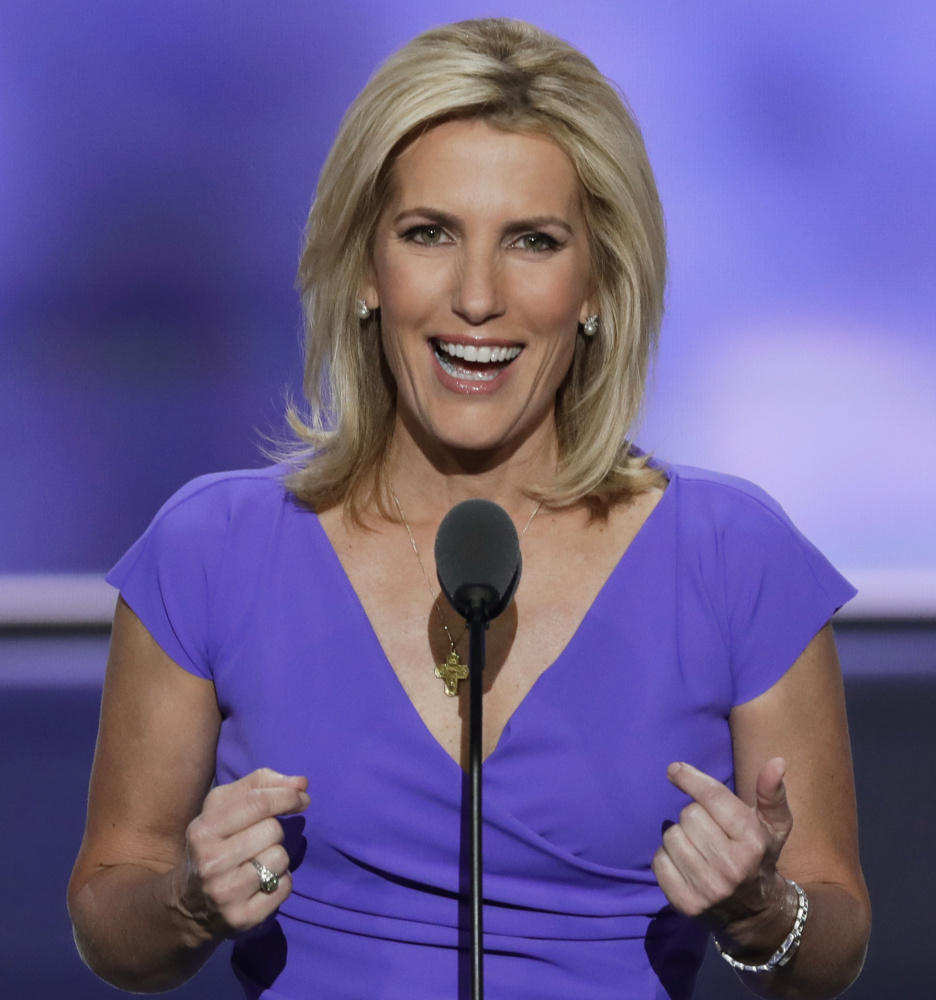 Conservative commentator Laura Ingraham speaks at the Republican National Convention in Cleveland.