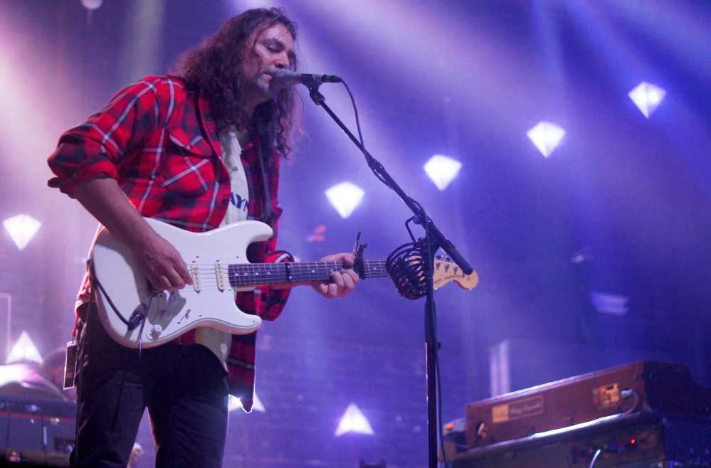 War on Drugs singer, songwriter and lead guitarist Adam Granduciel playing at the State Theatre on Monday.