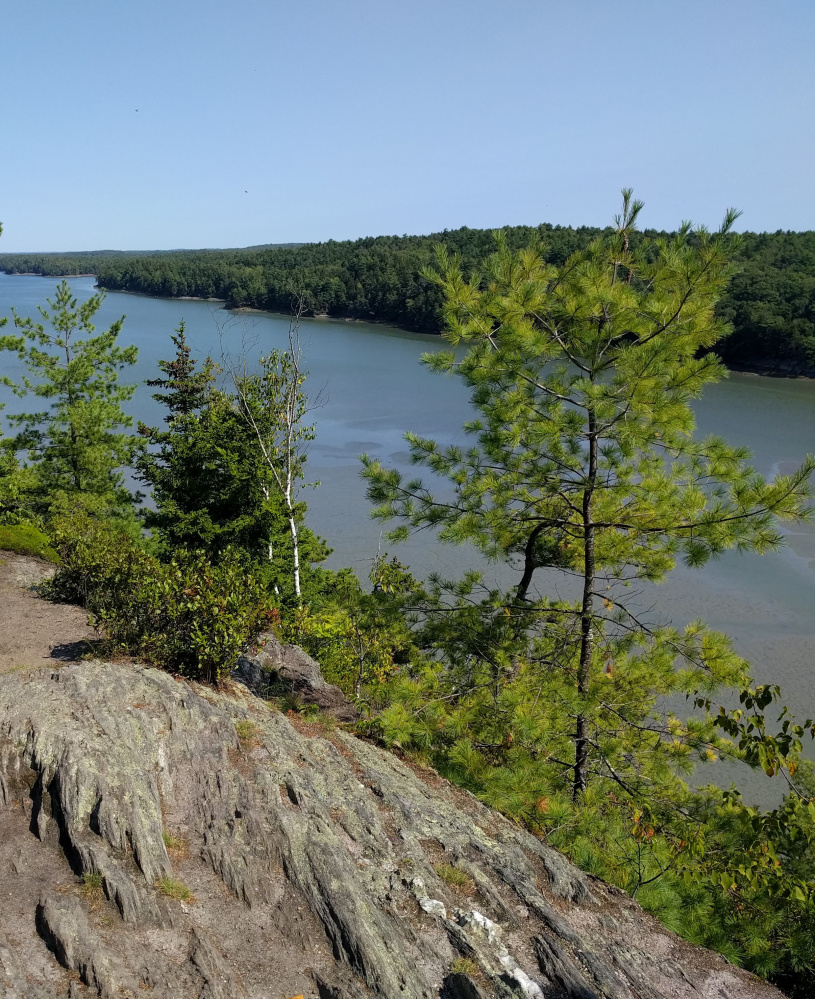 The Cliff Trail in Harpswell is one of many maintained by the Harpswell Heritage Land Trust, which conserves about 1,600 acres.