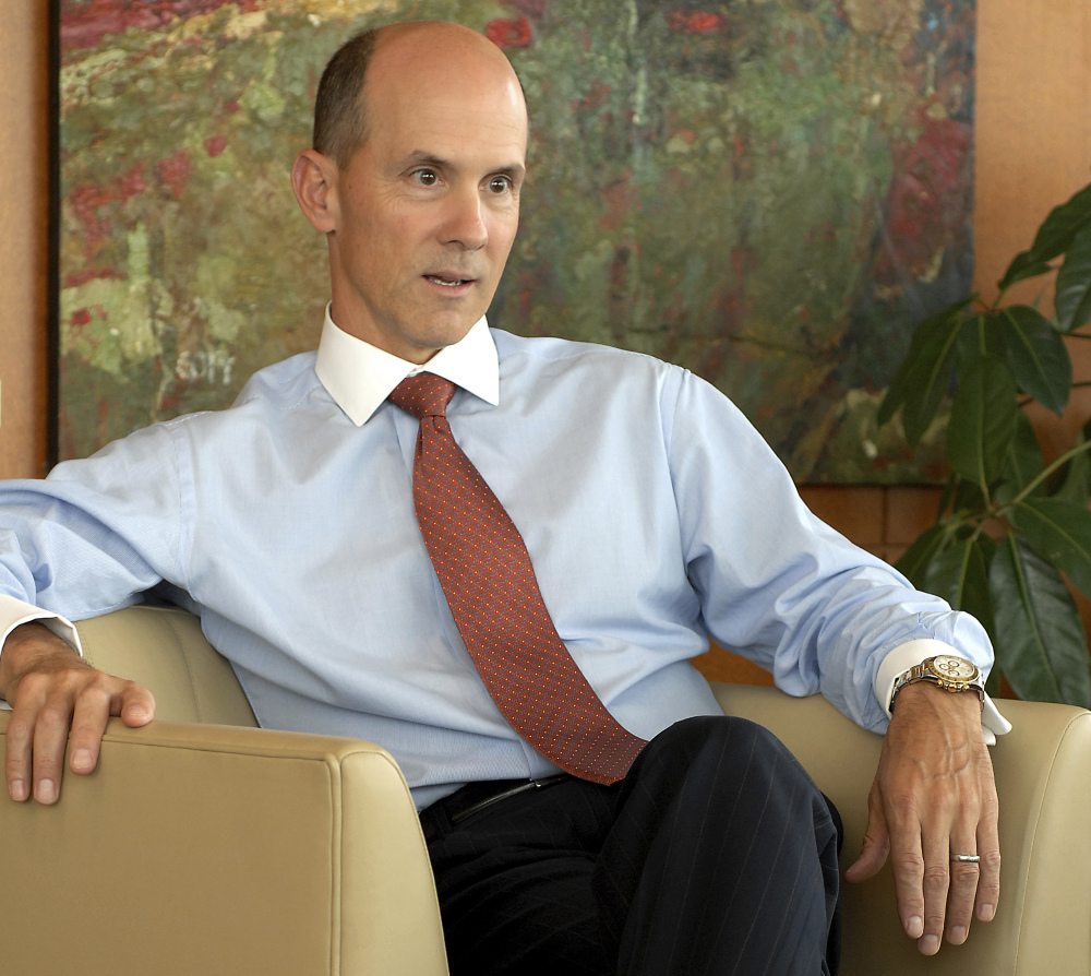 Equifax CEO Richard Smith, seen in 2007, leaves the company as it faces state and federal inquiries and multiple class-action lawsuits over a massive data breach.