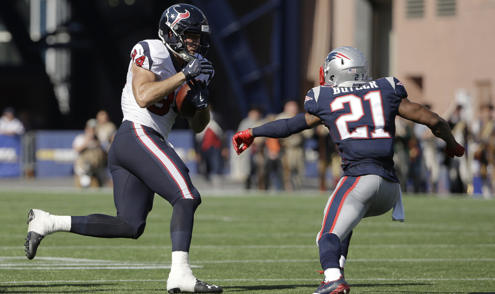 Patriots cornerback Malcolm Butler had a bounce-back performance Sunday against the Houston Texans, allowing just two catches for 10 yards.