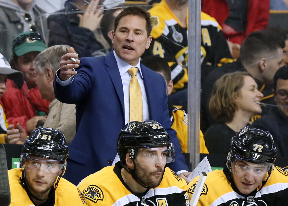 Bruce Cassidy took over as the Bruins' coach after Claude Julien was fired last season and now enters his first full season in charge.