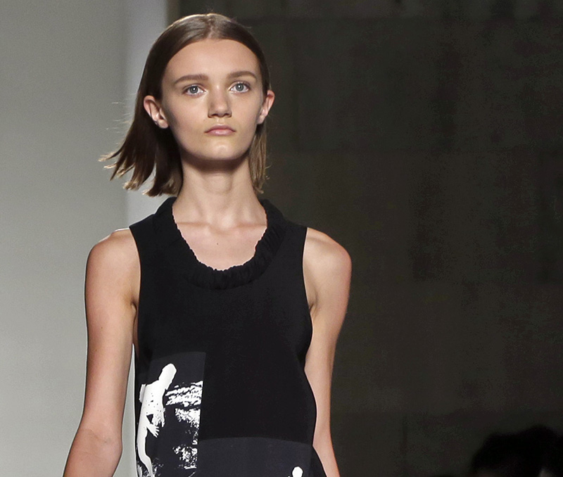 size zero models Skinny models that designer victoria beckham specifically banned from walking in her spring 2011 catwalk presentation because she wants to be the only skinny bitch in the world.