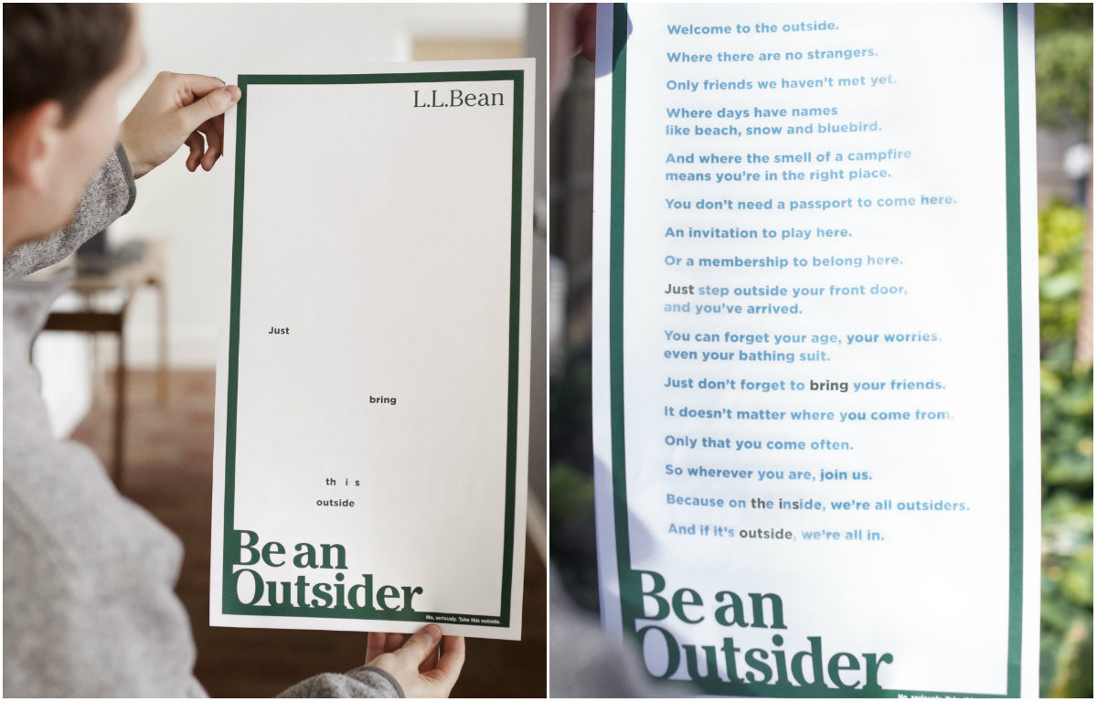 L l bean order form - Portland Ad Agency Shines With New L L Bean Invisible Ink Ad Portland Press Herald
