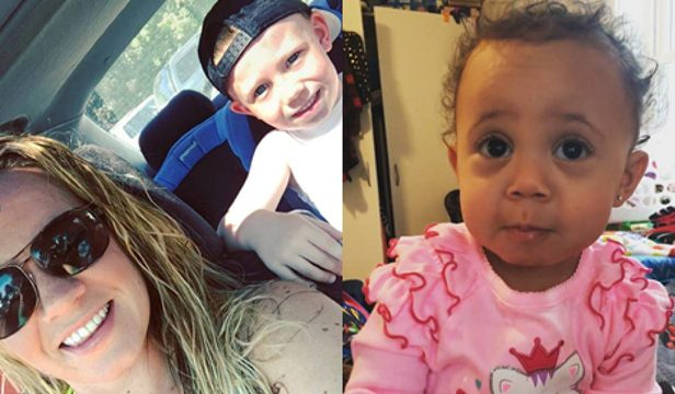 Liza Parker is shown in a photo with her son, Mason Worcester. A separate photo shows her daughter, Tiaona Robinson.