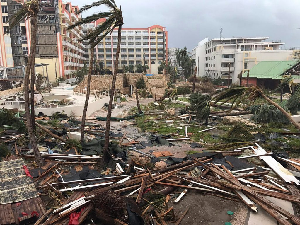 Hurricane Irma took a brutal toll on St. Martin island, where five members of a wedding party from Bangor remained Friday night – with another hurricane on the way.
