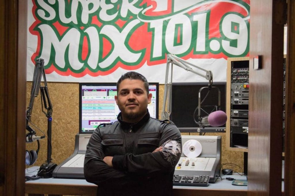 Alonso Guillen is pictured at his job as a radio host in Lufkin, Texas, in this undated family photo.