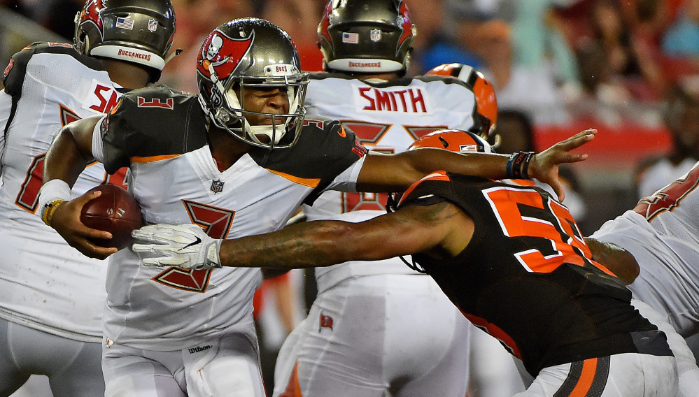 Quarterback Jameis Winston of the Tampa Bay Buccaneers will be looking to fend off the New England Patriots' defense Thursday night while also getting a close look at Tom Brady, one of his idols.
