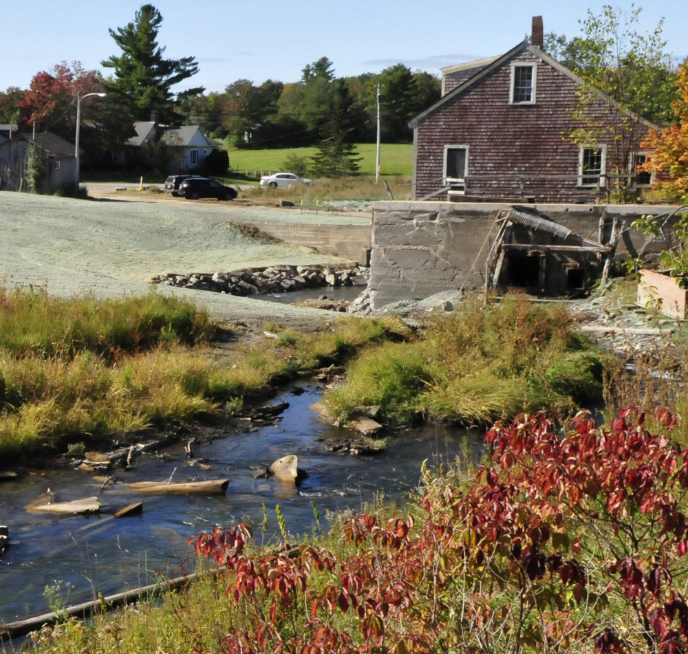 The former Masse Dam was located beside a mill and the China Lake outlet stream in Vassalboro.
