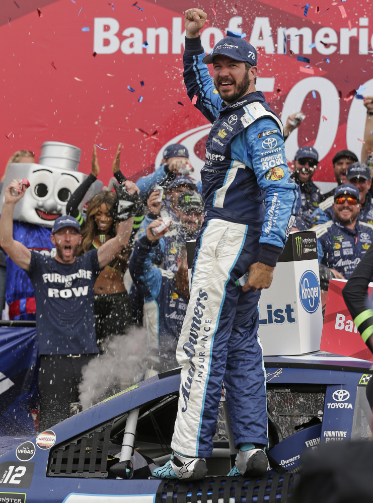 Martin Truex Jr. followed the same formula as the first round of the playoffs, winning the first race of the second round to ensure advancement to the third round.