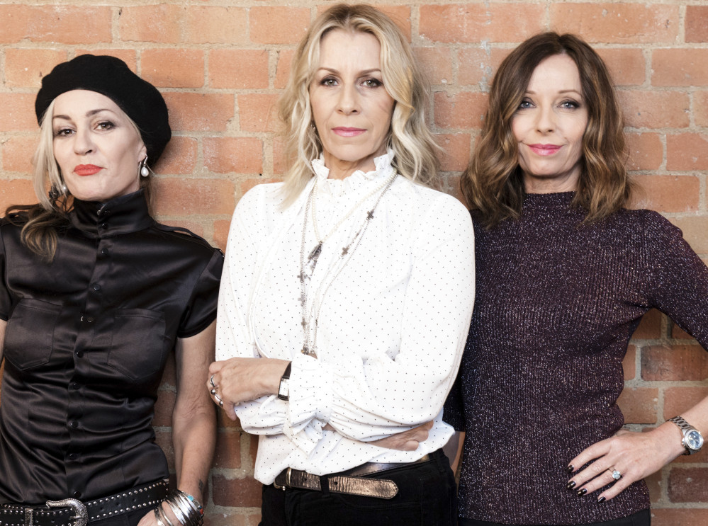 Members of 'Bananarama' are, from left: Siobhan Fahey, Sara Dallin and Keren Woodward. The group's North American tour will begin Feb. 20 in Los Angeles.