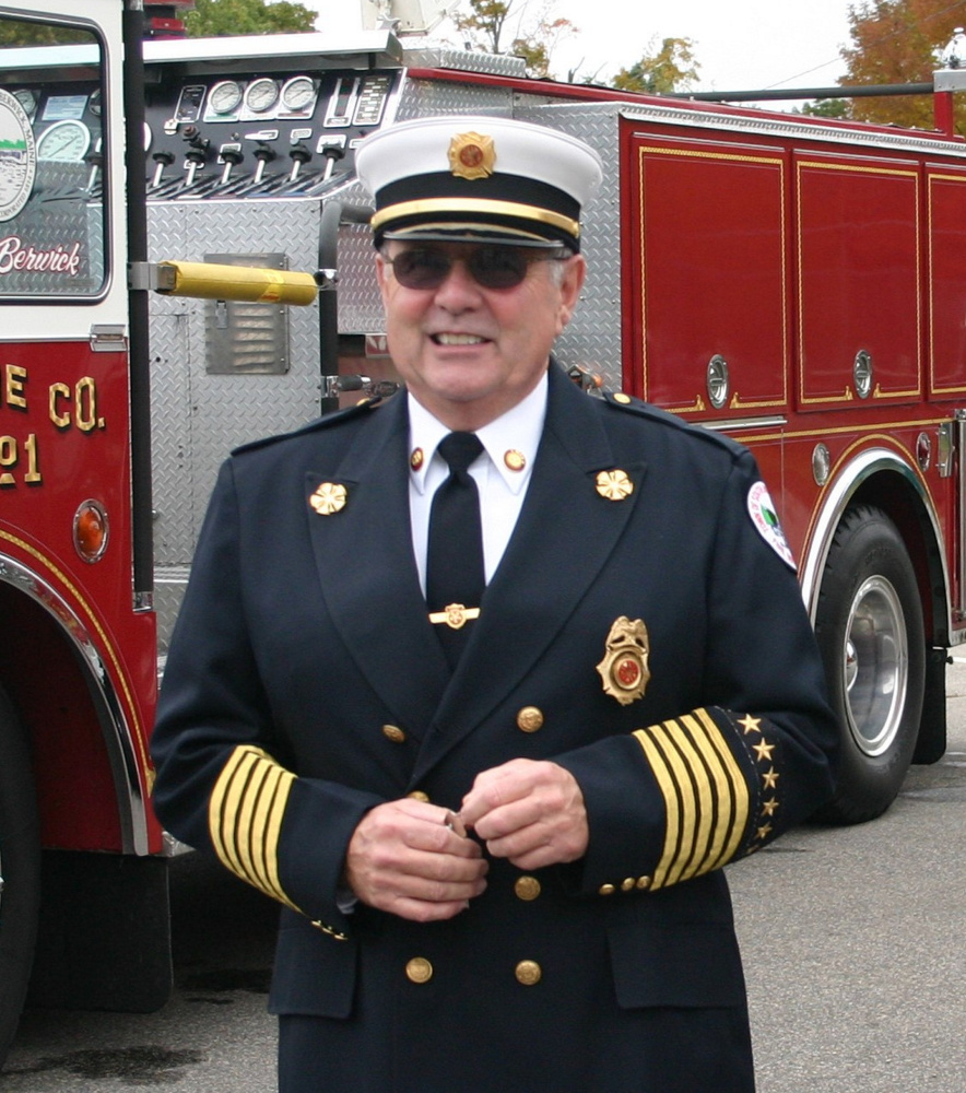 George Gorman, who died Saturday at 75, made his last fire call in June to the Sanford mill fire. He was remember- ed for being fiercely loyal to the department and the firefighters. Family photo