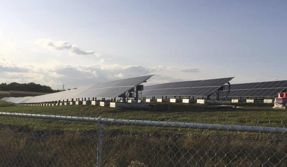 South Portland's solar array on the city's former landfill off Highland Avenue is expected to generate 1.2 million kilowatt-hours of energy per year. The mayor will turn it on at a switch-flipping ceremony at 8:30 a.m. Tuesday.