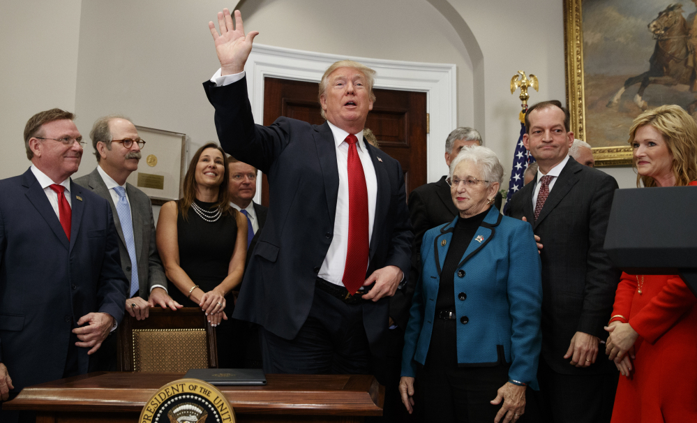 President Trump has turned increasingly to executive powers to push policy changes that have been unable to make it through Congress. On Thursday, he signed an order aimed at weakening Obamacare, a frequent target of conservatives.