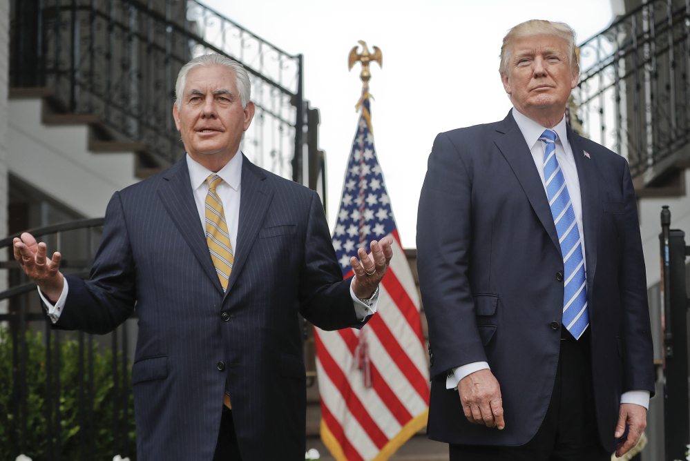 Secretary of State Rex Tillerson Tillerson insisted Sunday that President Trump has not undermined him even as he again refused to deny calling the president a