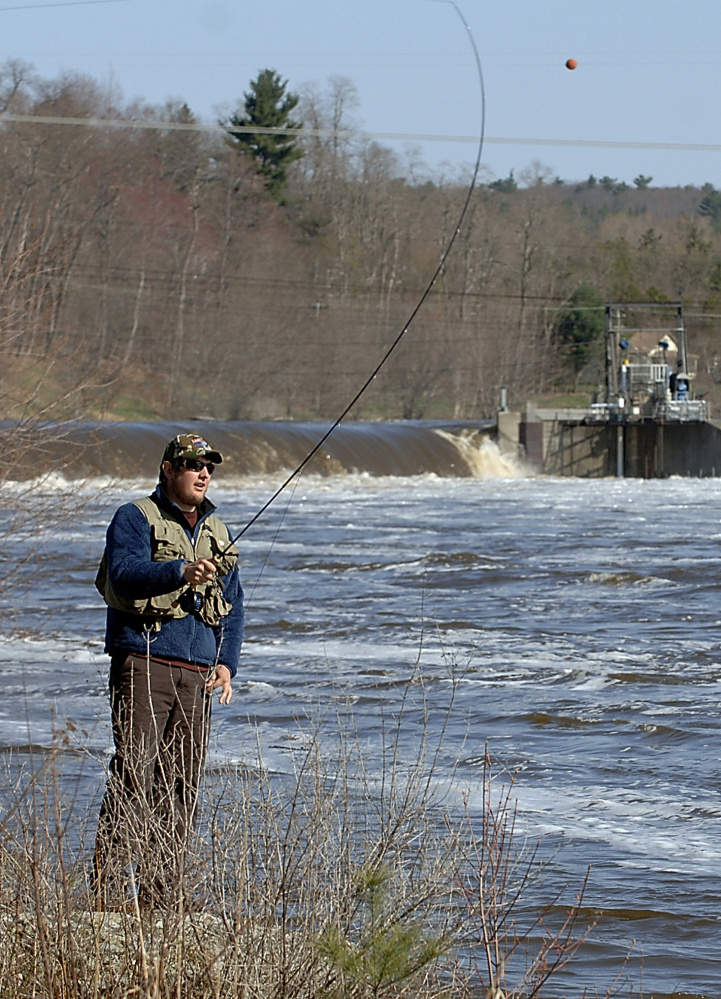 Salmon fishing along the Penobscot River on opening day on May 1, 2008. The first catch of the season was traditionally sent to the president.