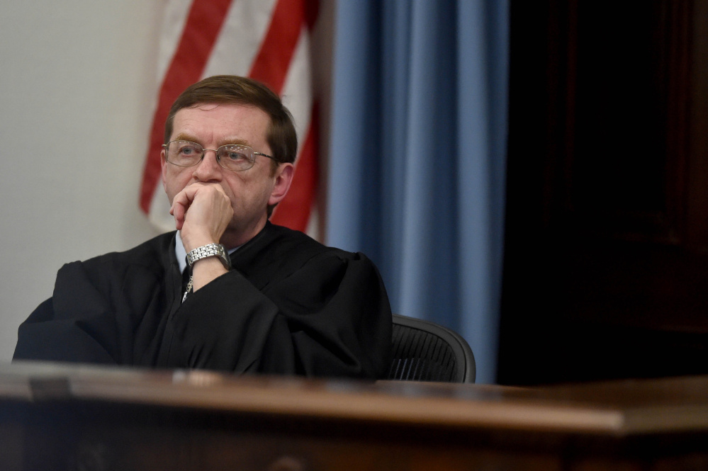 The reappointments of Superior Court Justice Robert Murray of Bangor, above, and four other judges are on hold.