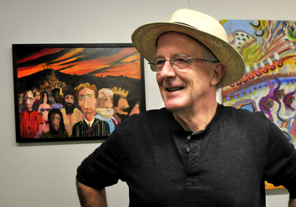 John Alsop speaks about his painting