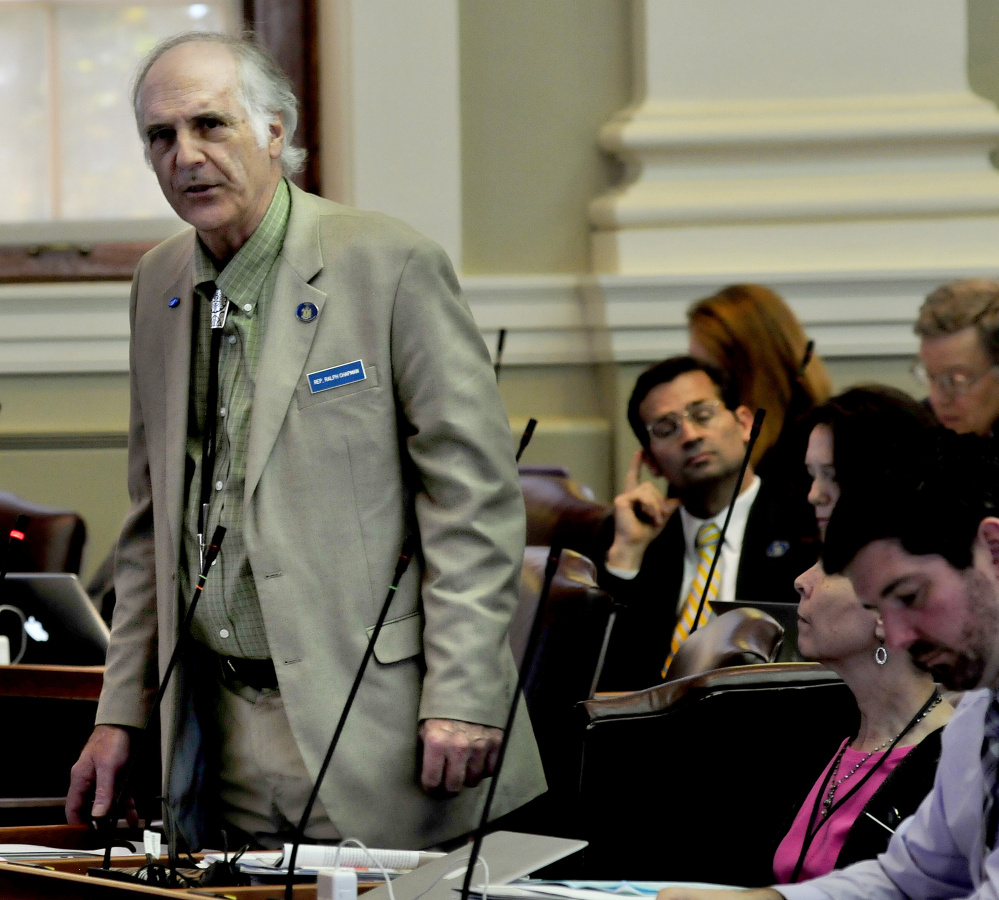 Rep. Ralph Chapman, a Green Independent from Brookesville, spoke at length on the ranked-choice voting measure discussed during Monday's special session of the Legislature.