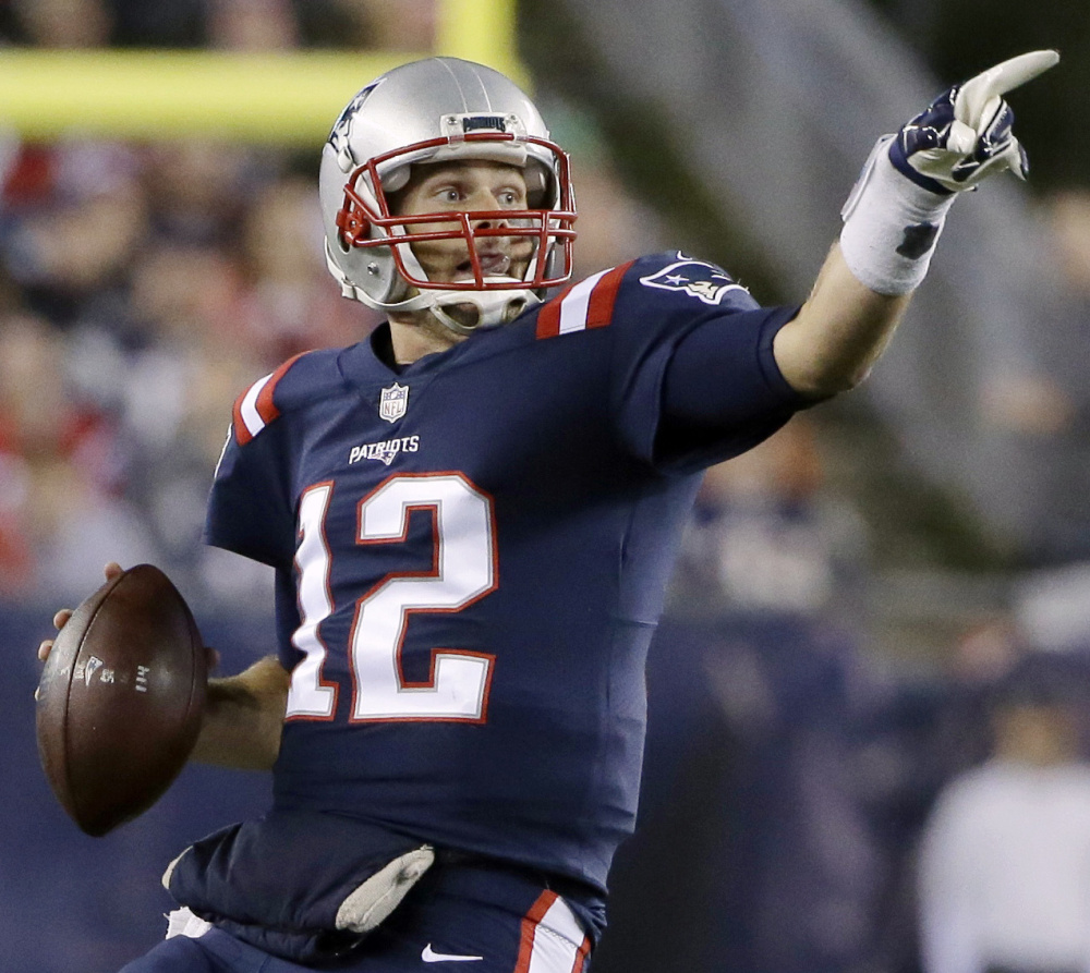 An offensive line experienced with playing together has given Tom Brady the time needed to find his receivers farther down the field than ever, and it's paying off this season for the New England Patriots.