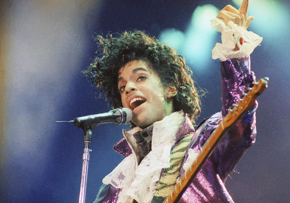Music star Prince performs at the Forum in Inglewood, Calif., on Feb. 18, 1985. Associated Press/Liu Heung Shing