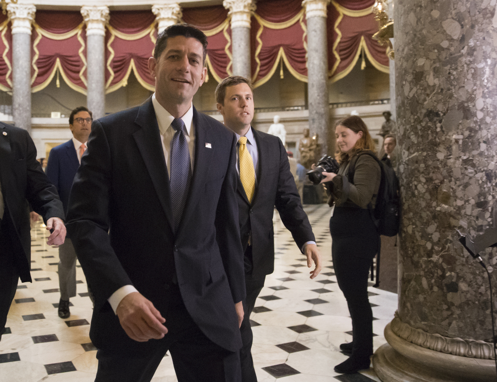 House Speaker Paul Ryan warned Thursday that lobbyists would soon flood Capitol Hill to fight for a piece of tax cuts.